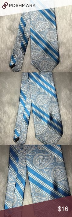 Bachrach Men's blue paisley design silky tie Bachrach Men's blue paisley design silky tie. In great condition. Only worn twice. Bachrach Accessories Ties