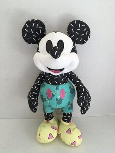 Mickey Mouse Doll, Disney Mickey Mouse, September, Plush, Memories, Dolls, Disney Characters, Animals, Art