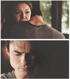 Delena | The Vampire Diaries.... Damon comforts Elena when she finds out Bonnie is dead- season 5