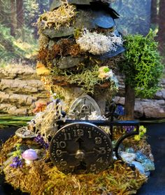 "Fairy House Miniature ""The Clockmaker"" by WoodlandFairyVillage, $24.99"