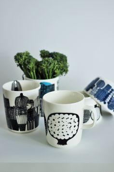 Marimekko Kompotti Displaying Collections, Marimekko, Ceramics, Dishes, Mugs, House Styles, Tableware, Furniture, Home