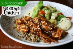 Sweet Slow Cooker Sesame Chicken Recipe - Family Fresh Meals