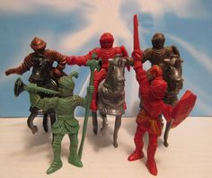 MARX LIDO ROBIN HOOD CASTLE PLAYSET VINTAGE 60s 5 KNIGHTS PLASTIC TOY SOLDIERS #LIDOTOYS