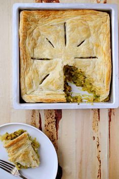 Samosa Pie with puff pastry top.  oh!