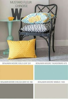 Jaune moutarde / turquoise