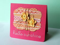 Hello Sunshine Card by Danielle Flanders for Papertrey Ink (September 2012)