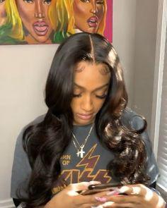 Source by whetevadestiny Baddie Hairstyles, Black Girls Hairstyles, Pretty Hairstyles, Long Weave Hairstyles, Updo Hairstyle, Prom Hairstyles, Curly Hair Styles, Natural Hair Styles, Hair Laid