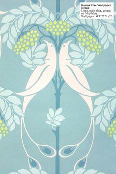 Art Nouveau Rowan Tree Wallpaper