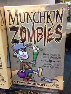 """From the expansive Munchkin games series, it's MUNCHKIN ZOMBIES! In reverse of the typical Munchkin play style, in ZOMBIES you play as zombies and the humans are the """"monsters""""."""