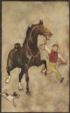 George Ford Morris - most remembered for his portraiture of the American Saddlebred. His documentation of the rise of this breed with its foundation stock is quit remarkable. George Ford Morris's work remains the most sought after still in the 21st century.
