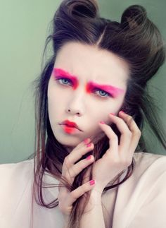 'Visages Colorés De La Petite Fille Japonaise' | Josefine Vandt By Olivia Frølich | June 2012