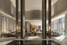 Lobby Bar, Lobby Lounge, Oriental Fashion, Oriental Style, Lobby Interior, Oversized Mirror, Furniture, Design, Home Decor