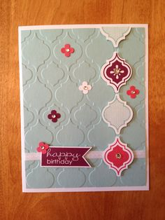 Stampin' Up! - Mosaic Madness.  Great card to make at a workshop or class.