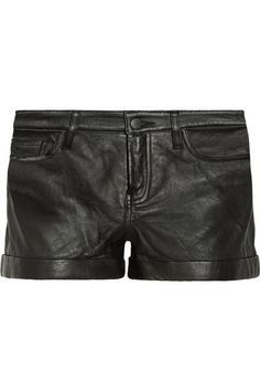 Theory Rizda washed-leather shorts