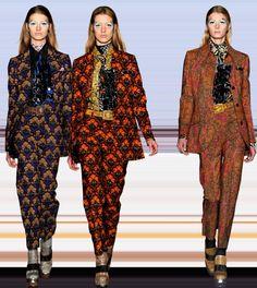 Miu Miu Printed Suits Fall 2012   Prints muy geometricas