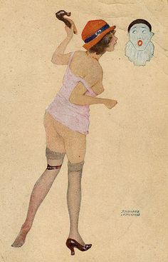 The illustration is by Raphael Kirchner, 1876-1917.
