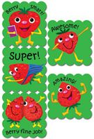 Cartoon Fruit Scratch 'n Sniff Stickers – Strawberry