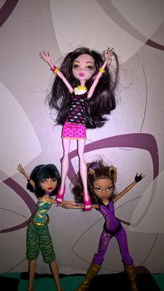 Draculaura, Cleo and Glawdeen
