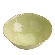 Vietri Bellezza Celadon Medium Deep Serving Bowl
