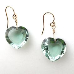 show-stopping green amethyst heart-shaped briolette by KKSparkles