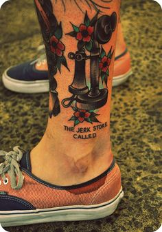 fuckyeahtattoos:  http://ahellboundheart.tumblr.com Traditional tattoos and Seinfeld. Good combo.