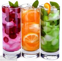 30 fun & fruity non-alcoholic drink recipes - Click Americana Fun Drinks Alcohol, Fruit Drinks, Non Alcoholic Drinks, Cocktail Drinks, Yummy Drinks, Cold Drinks, Summer Cocktails, Beverages, Layered Drinks