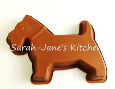 LARGE Scotty / Scottie Dog Cake Mould (or Chocolate Slab)