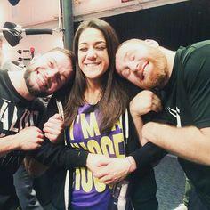 Finn Bálor, Bayley and Sami Zayn.