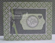 "Stampin' Up!® Simply Fabulous Simply Sent Card Kit - Chalk Talk, Chalk Talk Framelits, Small Heart & Circle punches, Pistachio Pudding 1/8"" Taffeta Ribbon"