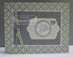 "Stampin' Up!® Simply Fabulous Simply Sent Card Kit - Chalk Talk, Chalk Talk Framelits, Small Heart & Circle punches, Pistachio Pudding 1/8"" Taffeta Ribbon"