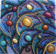 Deep Calls to Deep Bead Embroidery by Kathryn Lane Berkowitz