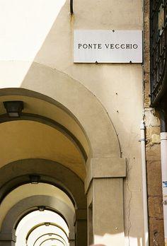 Firenze | ♕ | Portico di Ponte Vecchio | by © Rachel | via ysvoice