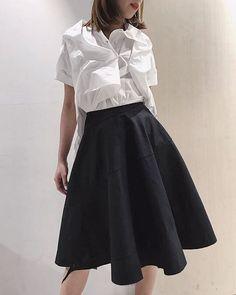 Aganovich SS18 Short Sleeve Shirt And Ma+ Spiral Skirt #aganovich #maurizioamadei