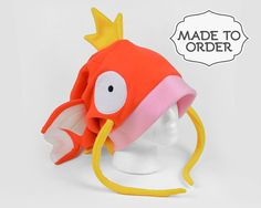 Magikarp Pokemon Slouchy Fleece Hat Made to Order by CholyKnight
