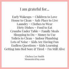 Grateful for...