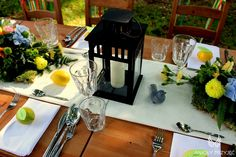 4. Forest Wedding,Outdoor wedding decor,Centerpieces,Lemon place cards / Leśne wesele,Wesele w plenerze,Owocowe winietki,Anioły Przyjęć
