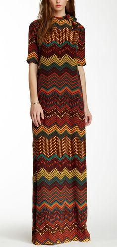 Gorgeous M Missoni Printed Silk Maxi Dress