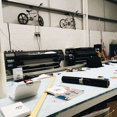 candid studio shot #studio #graphicdesignstudio #artists #printers #printshop #malton #stkrs #startupstickers #hpprinting #printingservices