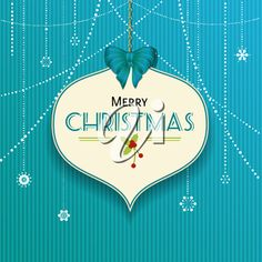 iCLIPART - Clip Art Illustration of a Christmas Bauble Label on a Blue Textured Background