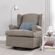 best chairs sutton swivel glider linen from sutton the bump baby registry catalog gliders baby registry and babies