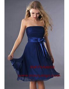 robe bleu robe de cocktail maysange - Robe De Tmoin De Mariage Pas Cher