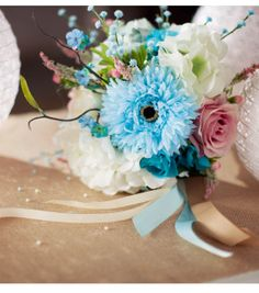 #DIY Wedding Bouquet | Great Bridesmaid Bouquet | Supplies available at Jo-Ann Fabric and Craft Stores | #craftyeverafter