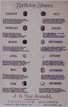 Birth Stones.