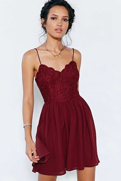 Kimchi Blue Spaghetti Strap Lace Dress - Urban Outfitters $69