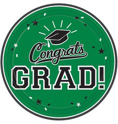 ​Choose Green School Colors Pride Dessert Plates when it's time to celebrate your new graduate. These round paper plates read Congrats Grad. Fathers Day Cake, Fathers Day Crafts, Graduation Party Supplies, Kids Party Supplies, Green School, School Colors, Grad Parties, Party Guests, Halloween Costumes For Kids