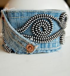 denim-cuff-bracelet