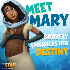 Mary knows exactly what she's been called to do and nothing's going to get in her way. Follow her faithful journey in The Star, the animated retelling of the nativity story. | #TheStarMovie arrives in theaters on November 17. #Christmas #movienight #familymovie #kidsmovie