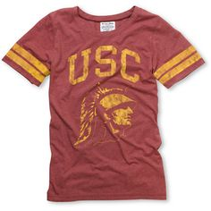 f6fd66a95a4135 USC Trojans Crew Girls College Football Tee. How comfortable does this look!