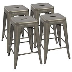 Shop the latest collection of Devoko Metal Bar Stools 24 Indoor Outdoor Stackable Barstools Modern Style Industrial Vintage Counter Bar Stools Set 4 (Gun) from the most popular stores - all in one place. Similar products are available.