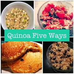 Quinoa Five Ways collage